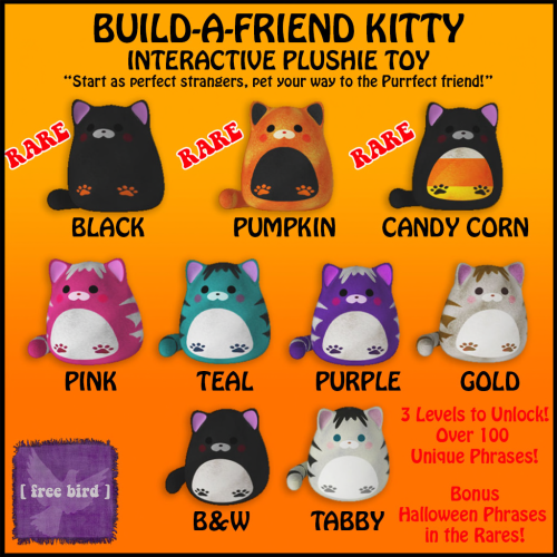 [ free bird ] Build-a-Friend Kitty Gatcha Sign - Halloween
