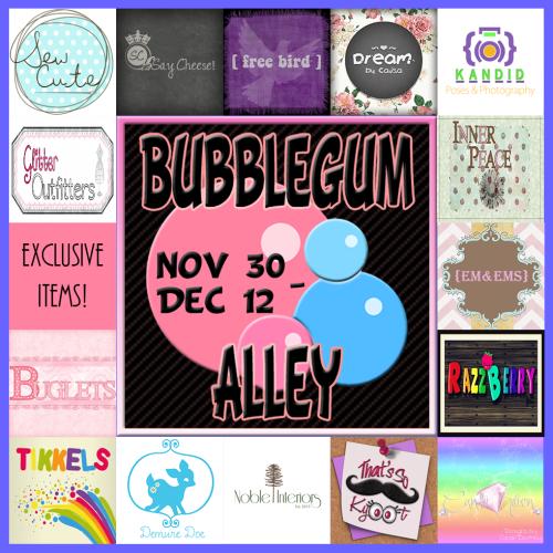 Bubblegum Alley Sign Round 2