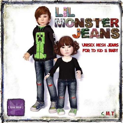 [ free bird ] Lil Monster TD Jeans