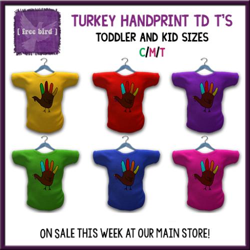 [ free bird ] Turkey Handprint Shirts on Sale