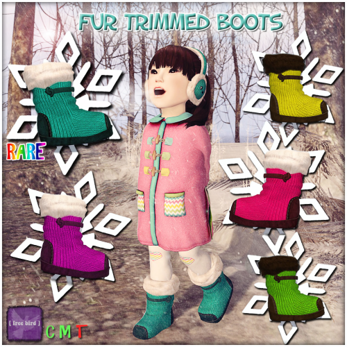Fur Trimmed Boots Ad