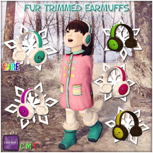 Fur Trimmed Earmuffs Ad
