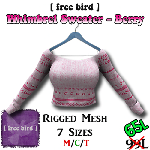 Whimbrel Sweater - Berry SALE