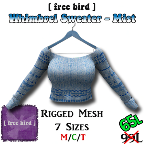 Whimbrel Sweater - Mist SALE
