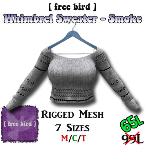 Whimbrel Sweater - Smoke SALE
