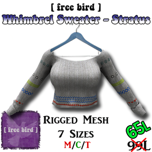 Whimbrel Sweater - Stratus SALE
