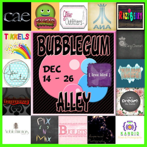 Bubblegum Alley Sign Round 3 Texture