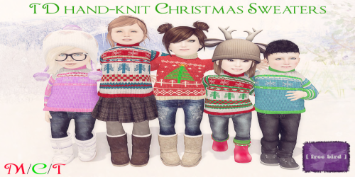 [ free bird ] TD Hand-Knit Christmas Sweater Collection