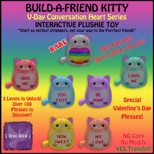 [ free bird ] Build-a-Friend Kitty Gatcha Sign SLGBTA