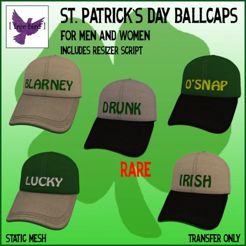 [ free bird ] St Patricks Day Ballcap Gacha