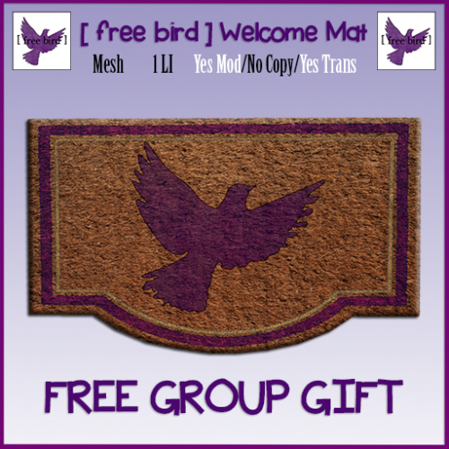 [ free bird ] Welcome Mat Sign