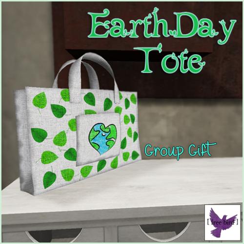 [ free bird ] Earth Day Tote Bag