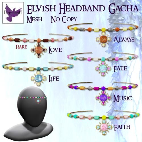 [ free bird ] Elvish Headband Gacha Ad