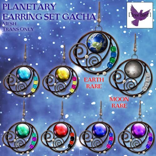 [ free bird ] Planetary Earring Set Gacha Ad