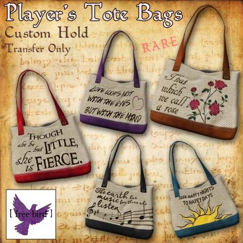 Player's Tote Bags Gacha