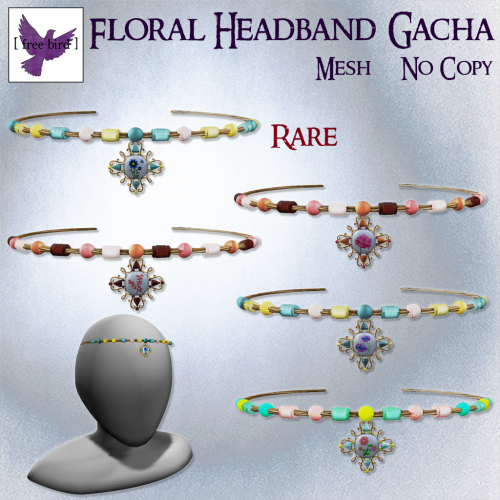 [ free bird ] Floral Headband Gacha Ad