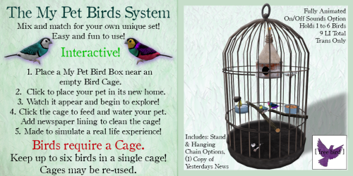 [ free bird ] My Pet Birds Sign 2