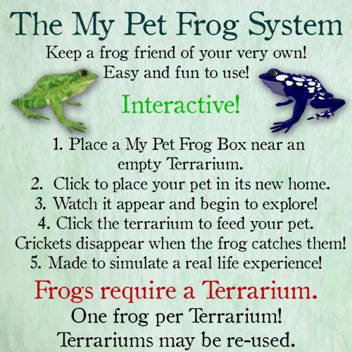 [ free bird ] My Pet Frog Sign