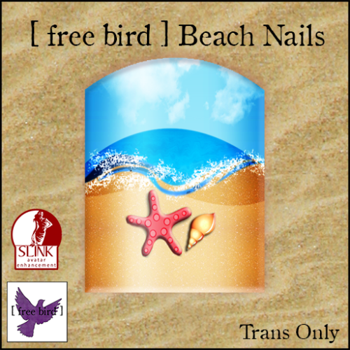 [ free bird ] Beach Nails Ad