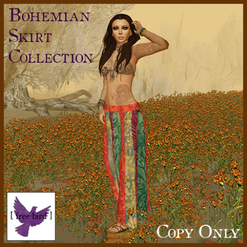 [ free bird ] Bohemian Skirt Ad