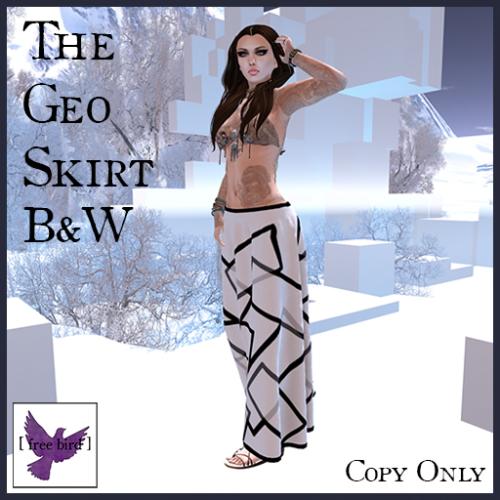 [ free bird ] Geo Skirt Ad
