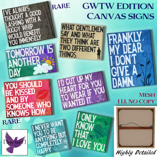 [ free bird ] GWTW Edition Canvas Signs Ad