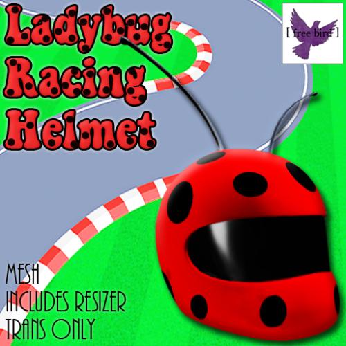 [ free bird ] Ladybug Racing Helmet