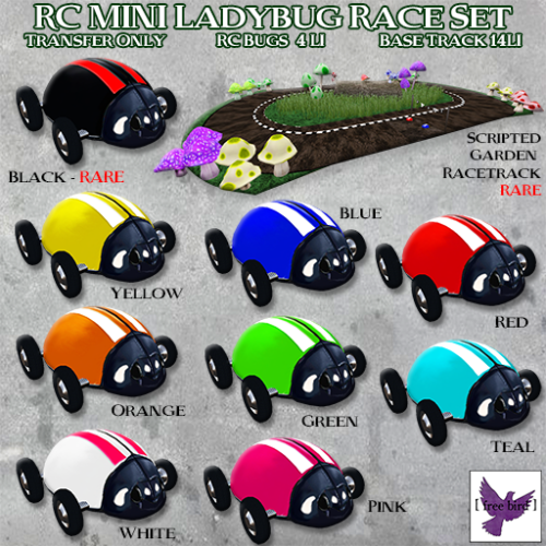 [ free bird ] RC Mini Bug Race Set Gacha Ad