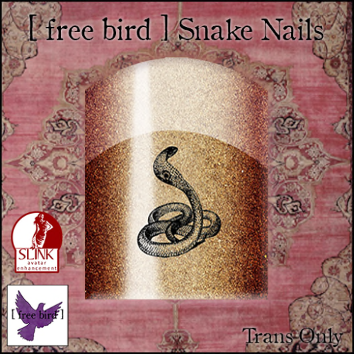 [ free bird ] Snake Nails Ad
