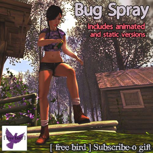 [ free bird ] Bug Spray Subscribe-o Gift (bagged)