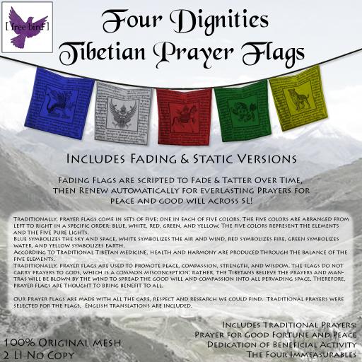 [ free bird ] Four Dignities Tibetian Prayer Flags Ad