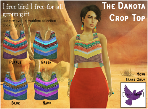 [ free bird ] free-for-all Dakota Crop Top Ad