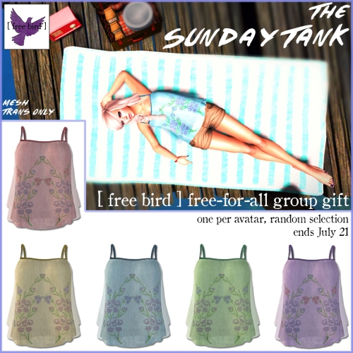 [ free bird ] free-for-all sunday tank ad
