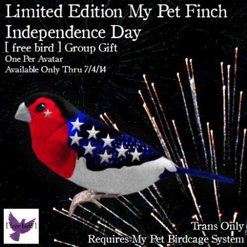 [ free bird ] Independence Day My Pet Finch Ad