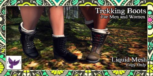 [ free bird ] Men and Women's Liquid Mesh Trekking Boots Ad