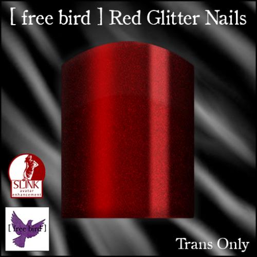 [ free bird ] Red Glitter Nails Ad