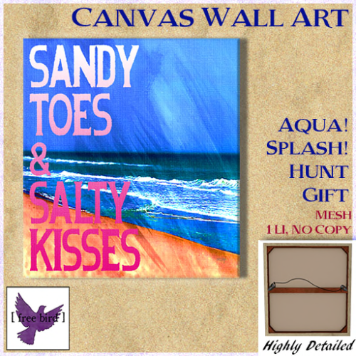 [ free bird ] Sandy Toes Canvas Ad - Hunt Gift