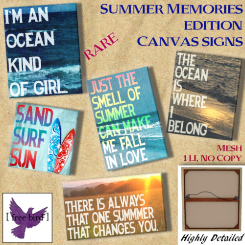 [ free bird ] Summer Memories Edition Canvases Ad