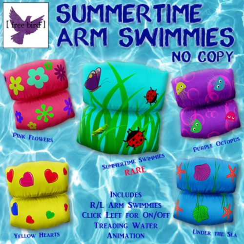 [ free bird ] Summertime Arm Swimmies Ad