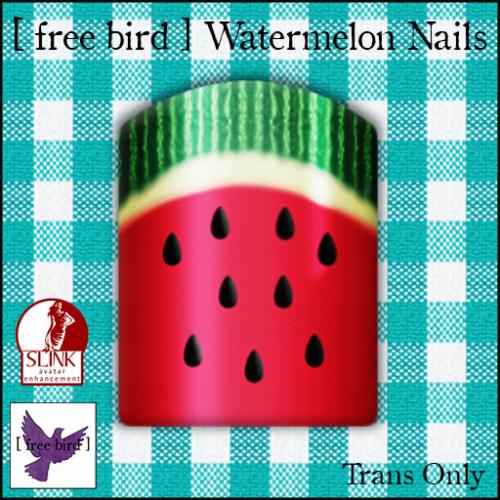 [ free bird ] Watermelon Nails Ad