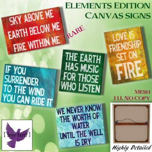 [ free bird ] Elements Canvas Sign Gacha Ad