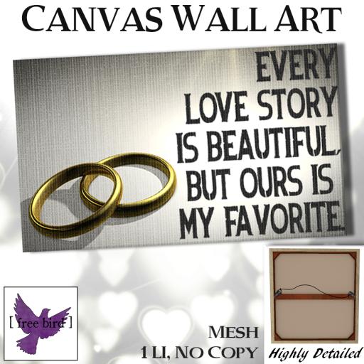 [ free bird ] Every Love Story Canvas Ad