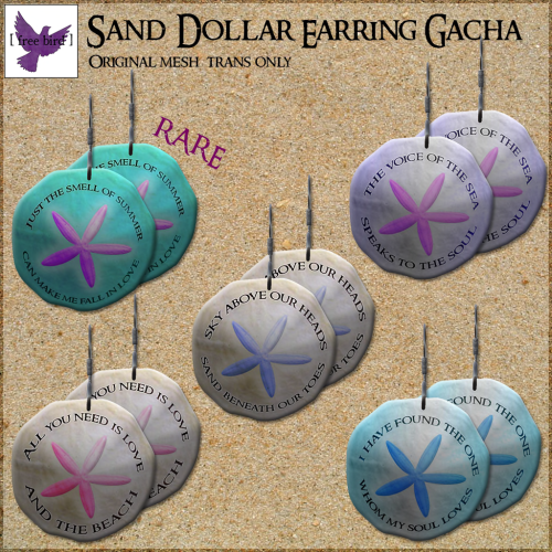 [ free bird ] Sand Dollar Earring Gacha Ad