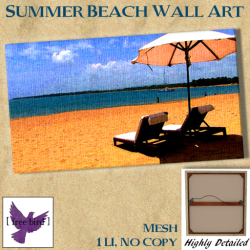[ free bird ] Summer Beach Canvas Ad
