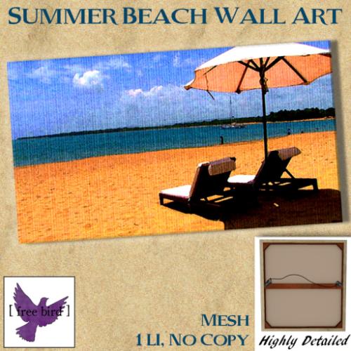 [ free bird ] Summer Beach Canvas Ad