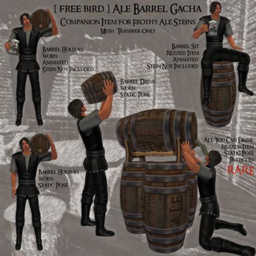 [ free bird ] Ale Barrel Gacha Ad