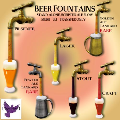 [ free bird ] Beer Fountain Gacha Ad