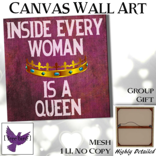 [ free bird ] Inside Every Woman Canvas Ad - Group Gift