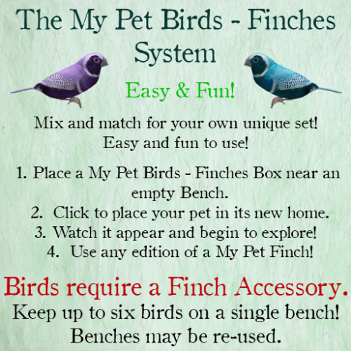 [ free bird ] My Pet Birds System - Park Bench Info