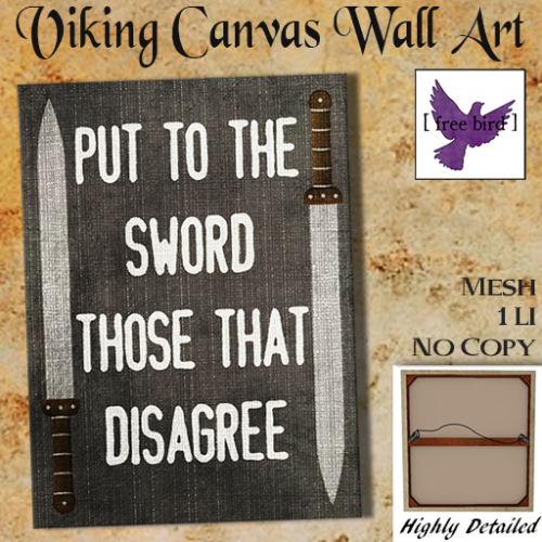 [ free bird ] Put To The Sword Canvas Ad